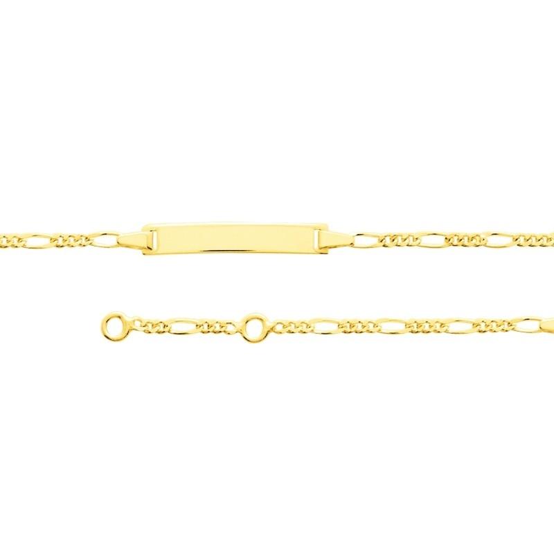 Bracelet Identité enfant Or jaune 375/000