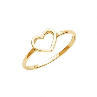 Bague Carador coeur évidé en plaqué or