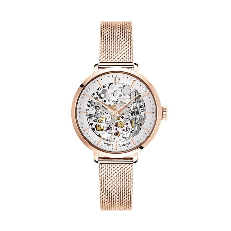 Montre Pierre Lannier Automatic dorée rose 313B928