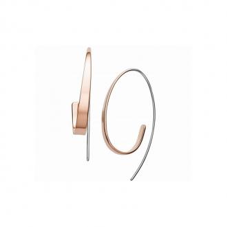 Boucles d'oreilles Skagen Kariana argenté et doré rose SKJ1213998