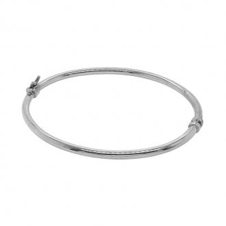 Bracelet jonc en or 750/000 blanc CARADOR