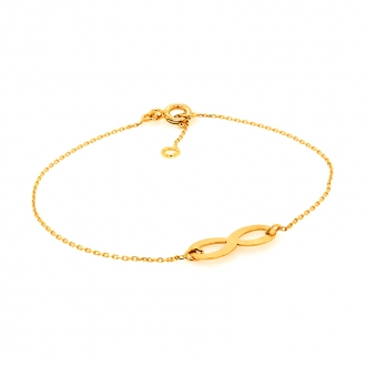 Bracelet en or jaune 750/000 motif infini CARADOR