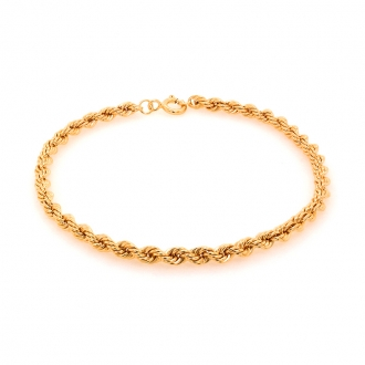 Bracelet en or jaune 750/000 maille corde de chez CARADOR