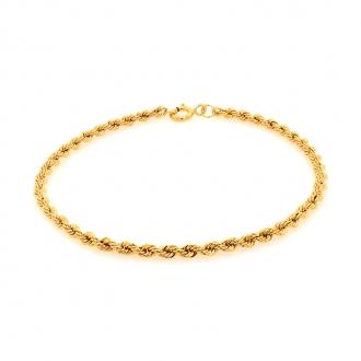 Bracelet en or jaune 750/000 maille corde CARADOR