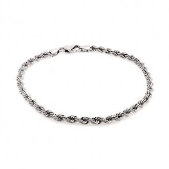 Bracelet en or blanc 750/000 maille corde de chez CARADOR