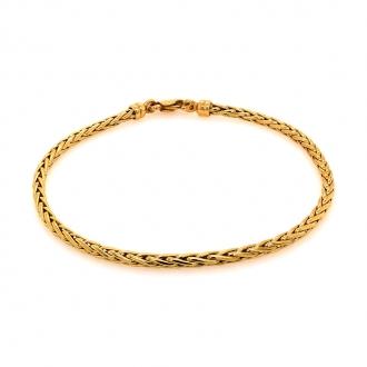 Bracelet en or jaune 750/000 maille palmier CARADOR