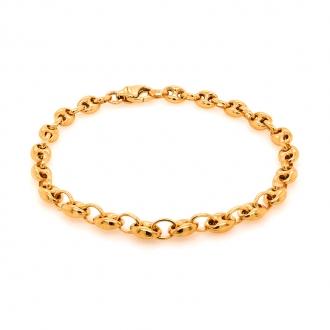Bracelet en or jaune 750/000 CARADOR maille grain de café