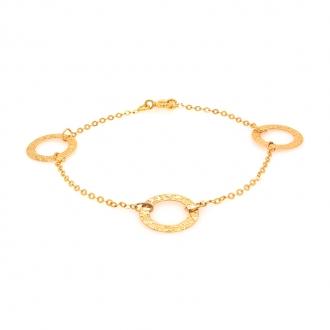 Bracelet en or jaune 750/000 triple cercles CARADOR