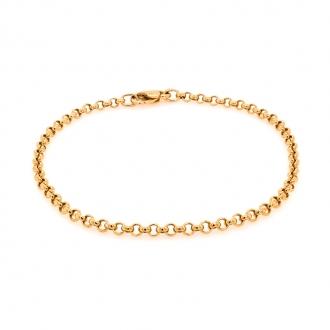 Bracelet en or jaune 750/000 CARADOR maille jaseron