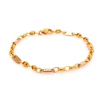 Bracelet en or jaune 750/000 maille marine creuse de chez CARADOR