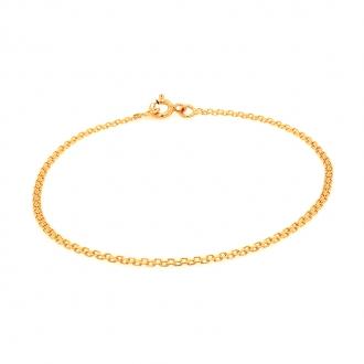 Bracelet en or jaune 750/000 maille bismarck CARADOR