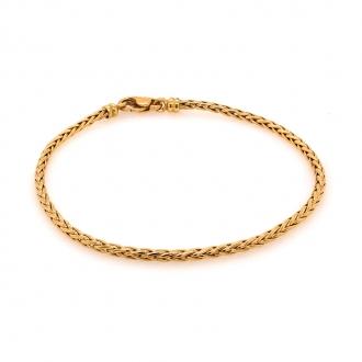 Bracelet en or jaune 750/000 maille palmierCARADOR