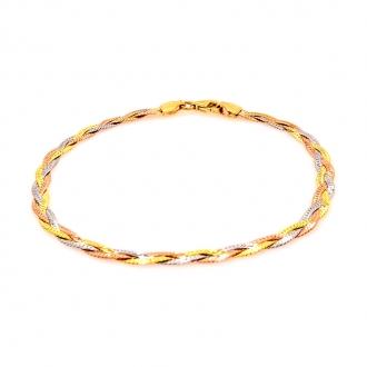 Bracelet tricolore or 375/000 CARADOR