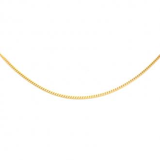 Chaine Carador maille gourmette diamantée en or jaune 375/000, longueur 45 cm