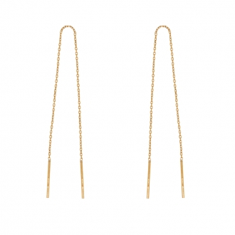 Boucles d'oreilles pendantes en or jaune 375/000