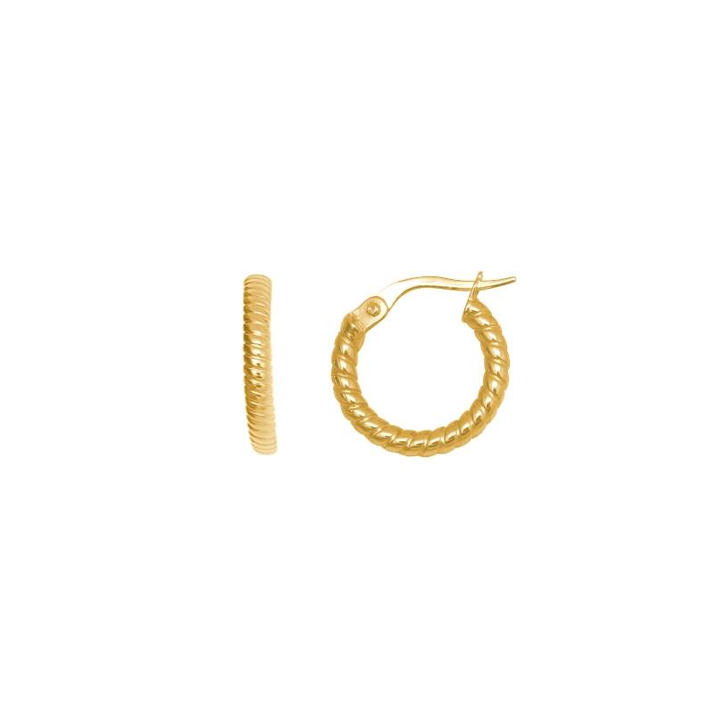 Boucles d'oreilles créoles perlées or 3750/000 CARADOR