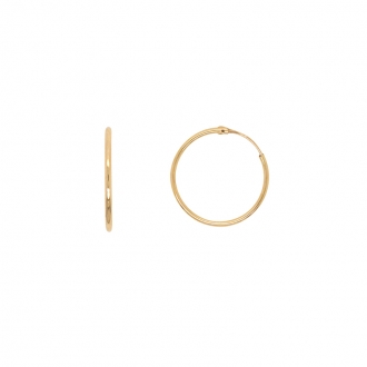 Boucles d'oreilles Carador Créoles 20mm or jaune 375/000