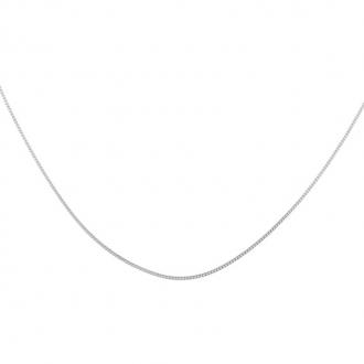 Chaine Carador maille forçat diamantée en argent , longueur 42+3cm cm