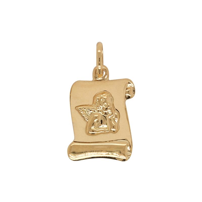 Médaille parchemin Carador ange en or jaune 750/000