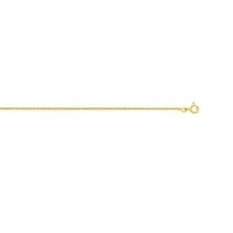 Chaine Carador Or jaune 750/000 Maille gourmette 40 cm