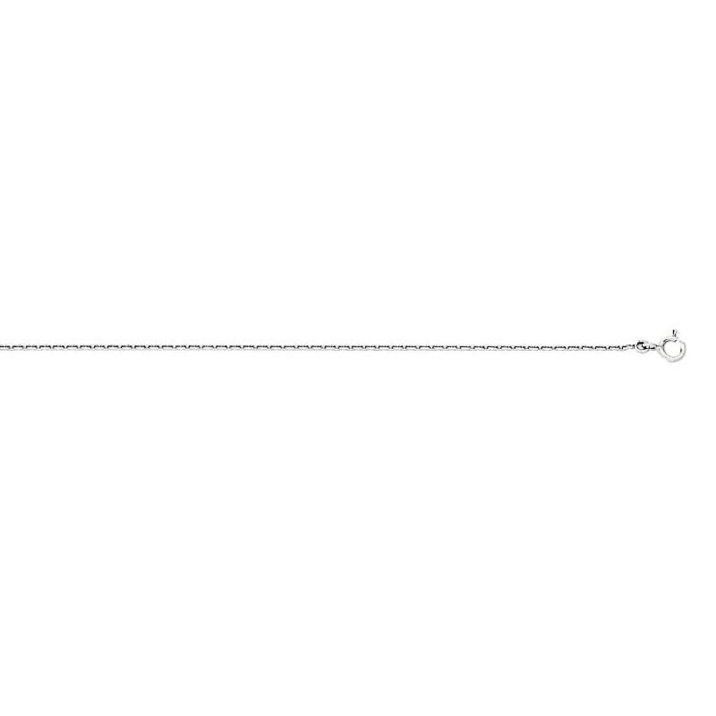 Chaîne CARADOR maille trés épaisse forçat or blanc 750/000 45 cm