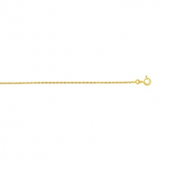 Chaine Carador Or jaune 750/000 Maille forçat 50 cm