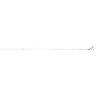 Chaîne CARADOR maille forçat or blanc 750/000 40 cm