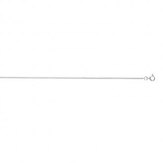 Collier CARADOR en or blanc 750/000 maille SPIGA 40 cm