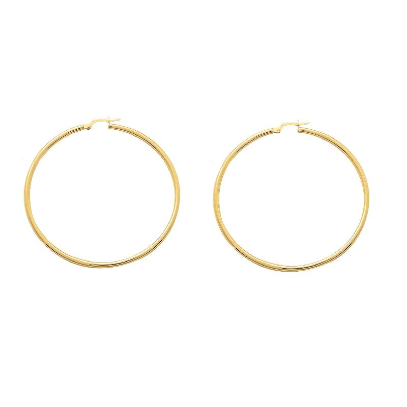 Boucles d'oreilles créoles or 375/000 CARADOR 5cm