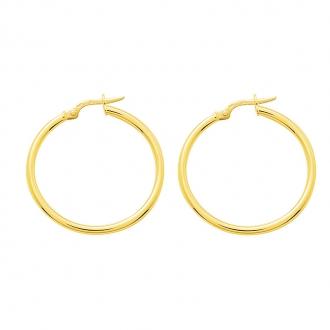 Boucles d'oreilles créoles or 375/000 CARADOR 4.5cm