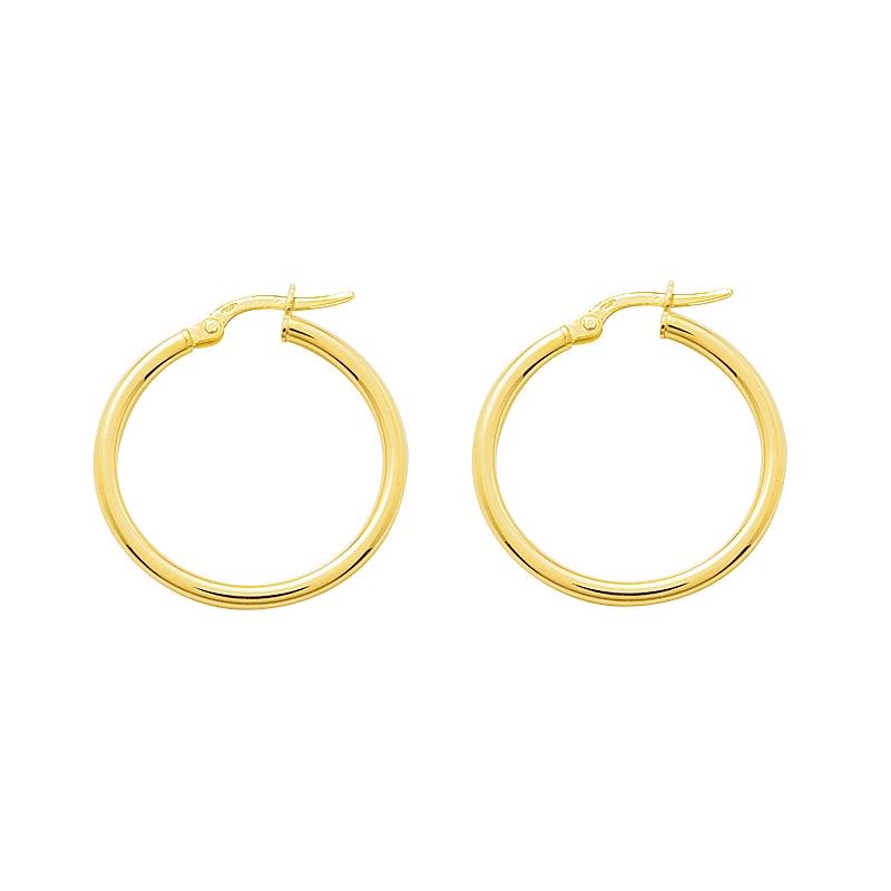 Boucles d'oreilles créoles or 375/000 CARADOR 3cm