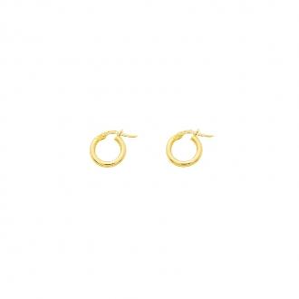 Boucles d'oreilles créoles or 375/000 CARADOR 0.5cm