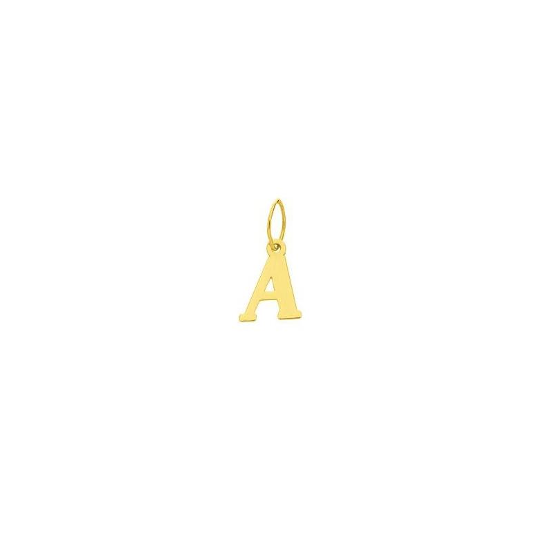 Pendentif lettre A en or jaune 750/000 CARADOR