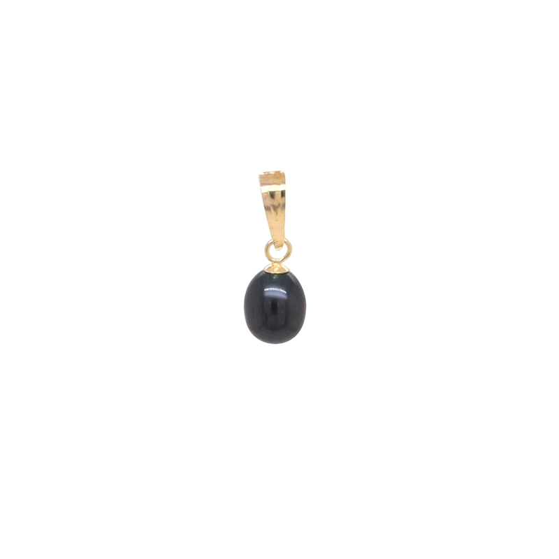 Pendentif perle teintée Carador en or jaune 375/0000