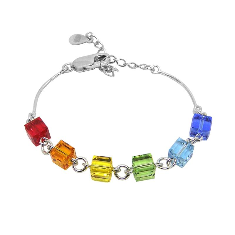 Bracelet Cube Indicolite-Paris BR-CUBE-MULTI