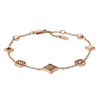 Bracelet souple en acier doré rose FOSSIL JF03192791