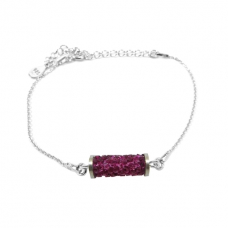 Bracelet Disco Indicolite cristal rose BRDISCO502