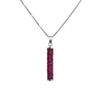 Collier Disco Indicolite cristal rose PEDISCO502