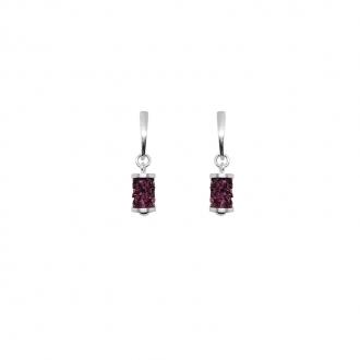 Boucles d'oreilles Disco Indicolite cristal rose BOPUDISCO502