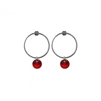 Boucles d'oreilles Alice Indicolite cristal rouge BO-ALICE-227