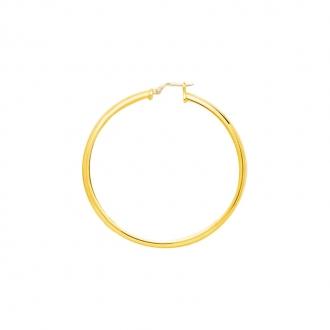 Boucles d'oreilles Créoles 50 mm Carador en or jaune 375/000