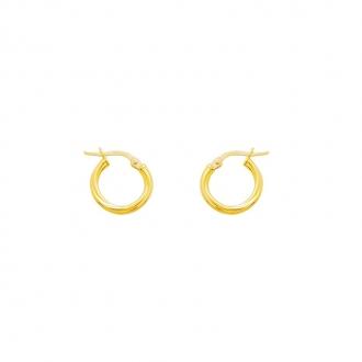 Boucles d'oreilles Créoles torchon 13 mm Carador en or jaune 375/000
