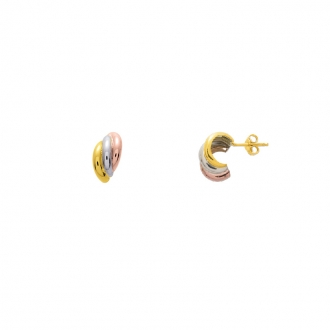 Boucles d'oreilles trois or 750/000 CARADOR