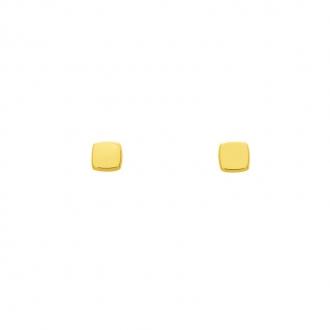 Boucles d'oreilles en or jaune 750/000 carré