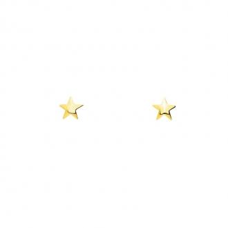 Boucles d'oreilles en or jaune 750/000 étoile