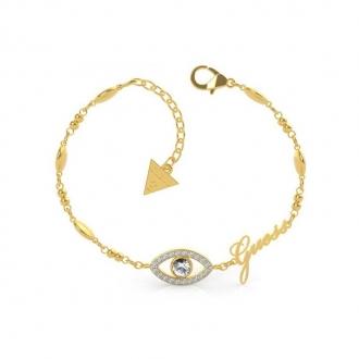 Bracelet Get Lucky oeil Guess en acier doré UBB29001-S