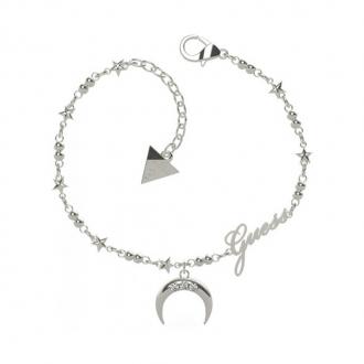 Bracelet Get Lucky lune Guess en acier argenté UBB29009-S