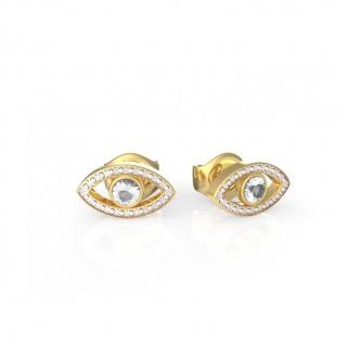Boucles d'oreilles Get Lucky oeil Guess en acier doré UBE29001