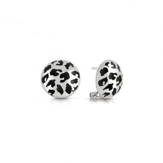 Boucles d'oreilles Curve X Guess en acier argenté UBE29087