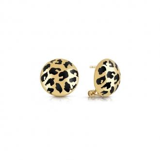 Boucles d'oreilles Curve X Guess en acier doré UBE29088